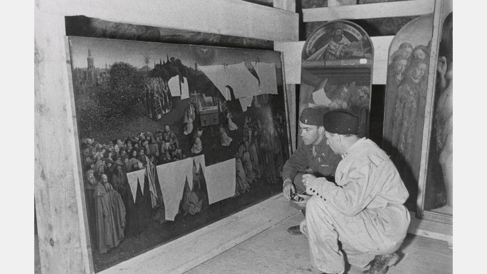 The Nazis stored thousands of works in a salt mine in Altaussee, Austria, near Hitler's 'home town' of Linz, where he planned for a massive museum to be built (Credit: Alamy)