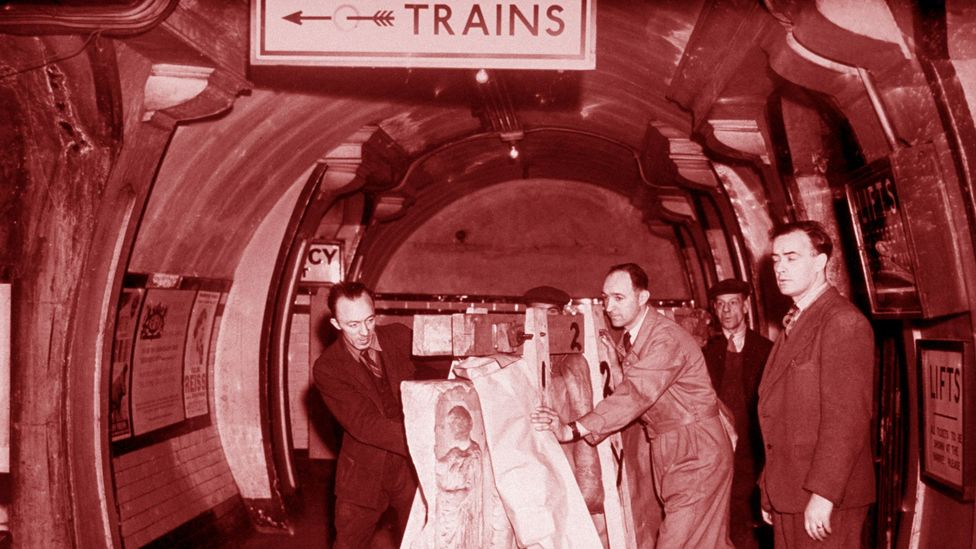 The Elgin Marbles in Aldwych tube station (Credit: Getty Images)