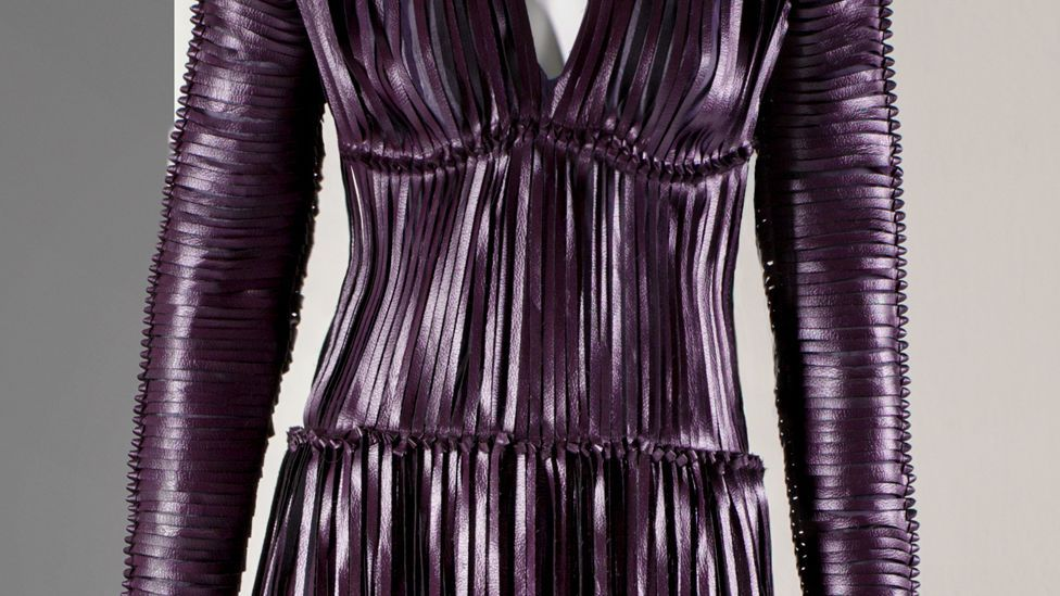 A dress created with Vegea, a leather alternative made with grape waste, shows how innovative sustainability can be (Credit: Vegea)