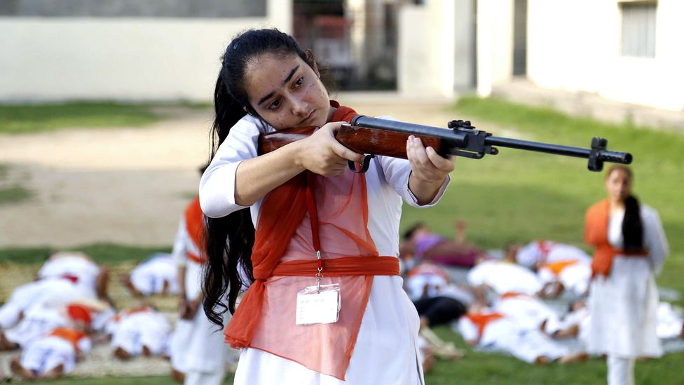 In India, some women are learning self-defence and shooting to protect themselves – but whether guns actually help people stay safe is controversial (Credit: Getty Images)