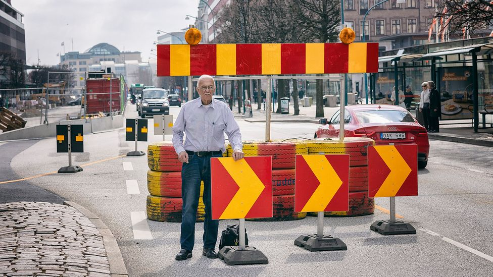 Arthur Olin, 82, was a Dagen H traffic consultant who spent a full year planning with no holiday (Credit: Jan Søndergaard)