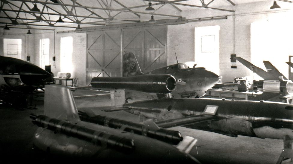 The site once housed captured German technology, like the Me-163 rocket fighter (Credit: Ed Andrews Collection)