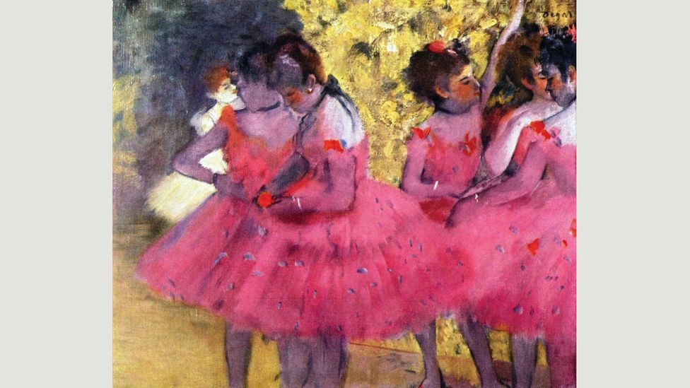 "Dancers in Pink (1880-1885) by Edgar Degas is lifted by its striking hue and a style the artist called ""premeditated instantaneousness"" (Credit: Alamy)"