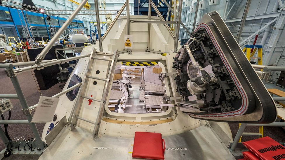Nasa has already built mock-ups to test the Orion's proposed interior (Credit: Nasa)