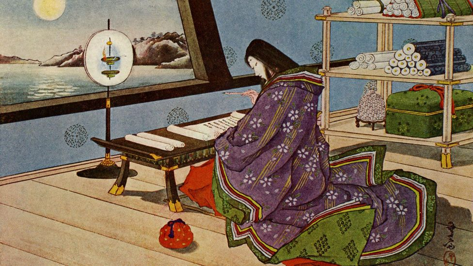 Murasaki Shikibu's The Tale of Genji is considered the world's first modern novel, creating complex characters and using irony in its description of courtly life (Credit: Alamy)