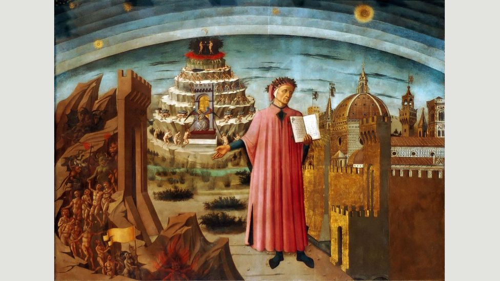 Relaying Dante's journey through the three realms of the dead,The Divine Comedy's vision of theafterlifereflects themedieval world-view in theWestern Church(Credit: Alamy)