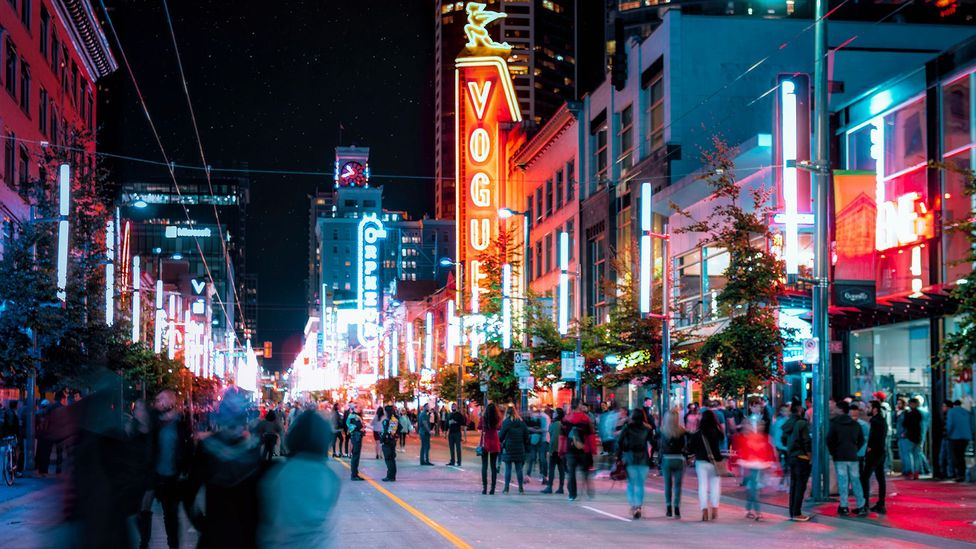 Vancouver, Canada, was one of the first capitals of neon, with one sign for every 18 residents (Credit: Michael robertharding/Alamy)