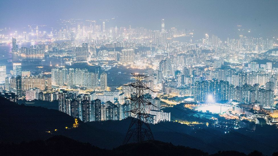 Night-time light means that urban dwellers sleep more poorly; one dramatic example is Hong Kong, thought to be the most light-polluted city in the world (Credit: Getty Images)