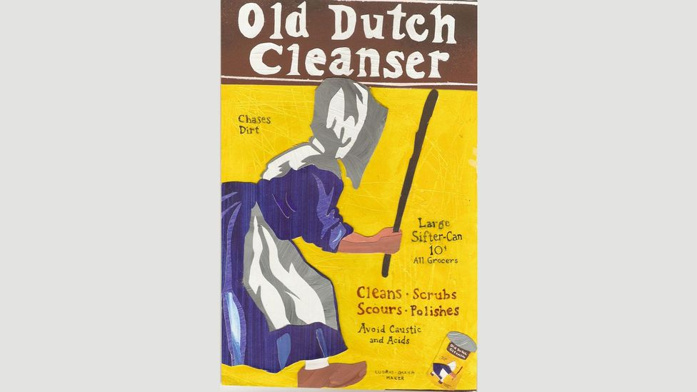 Atwood, who is from Canada, took inspiration from the logo of the Canadian laundry and cleaning products company Old Dutch for the handmaids' bonnets (Credit: Old Dutch)