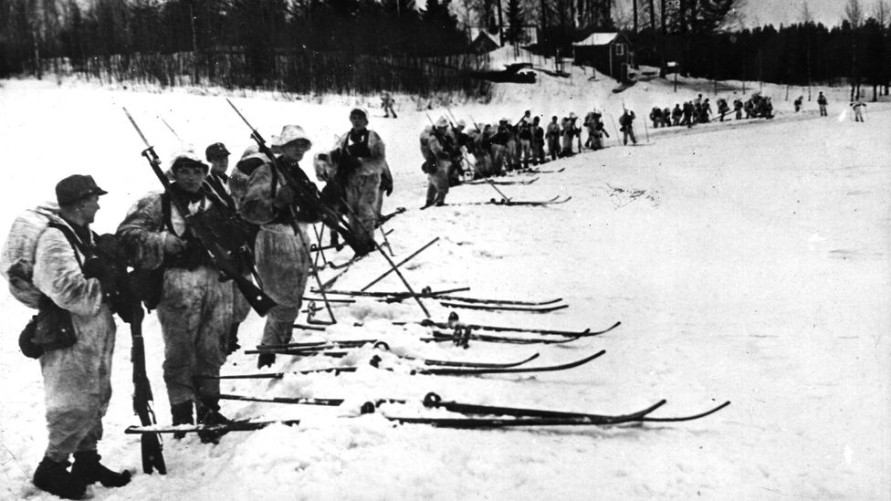 Finnish troops were far outnumbered by the Soviet troops in the Winter War, which was fought from 1939 to 1940(Credit: Getty Images)