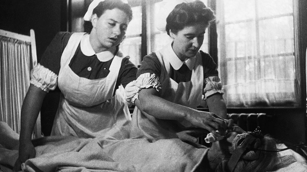 In the 1940s, shock therapy was so popular it could be done on an outpatient basis (Credit: Getty Images)