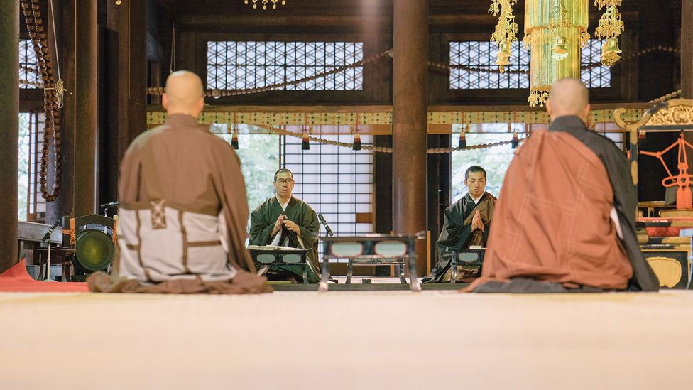 Meditation is often associated with Buddhism, which holds that the practice leads to spiritual fulfilment and peace (Credit: Getty Images)