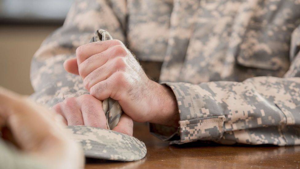 In combat veterans with PTSD, mindfulness-based group therapy increased healthy connections in parts of the brain that control ruminating (Credit: Getty Images)