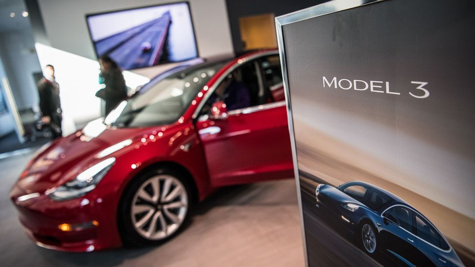 Tesla's Model 3 electric car was eagerly awaited but the company had missed manufacturing deadlines (Credit: The Washington Post via Getty Images)