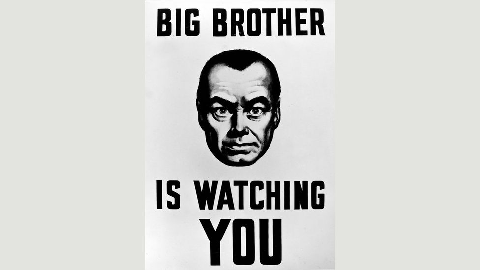 Orwell's iconic dictator Big Brother is absurd and horrifying in equal measure (Credit: Alamy)