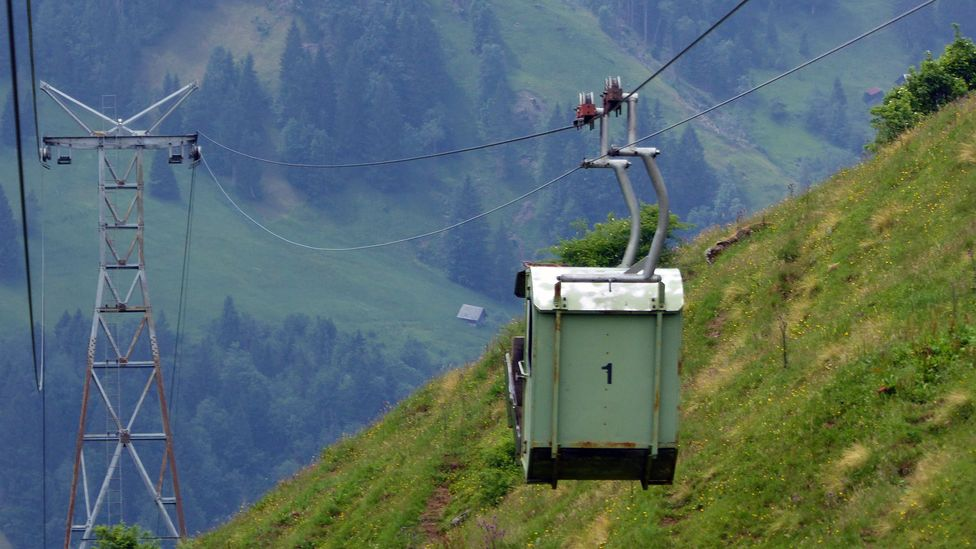 In the last 10 years, the number of cableways in the Engelberg Valley has dropped from around 100 to just more than 40 (Credit: Larry Bleiberg)