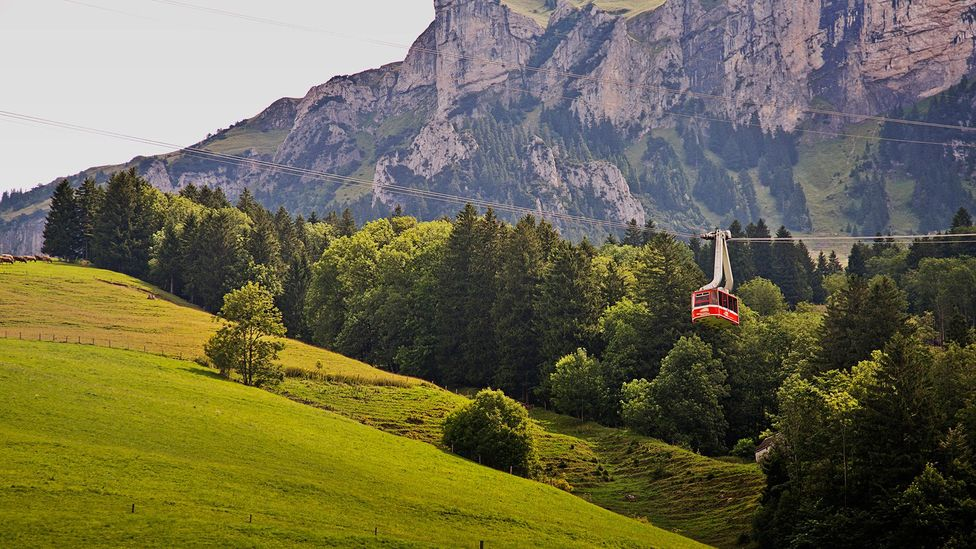 In Switzerland's Engelberg Valley, cable cars are used as basic transportation (Credit: Adina Tovy/Getty Images)