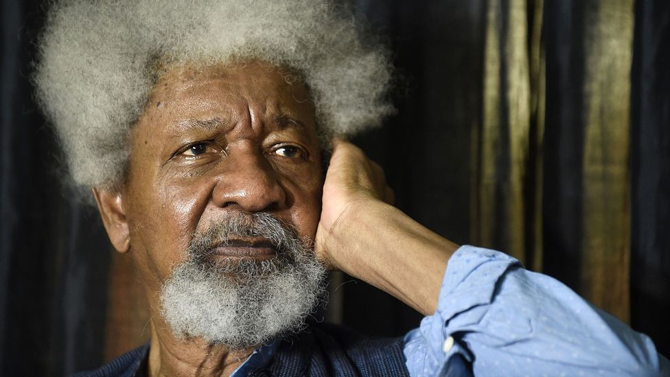 Soyinka, speaking here earlier this year about conflict between Fulani herdsmen and farmers, remains a vital voice as a dramatist and scholar (Credit: Getty Images)
