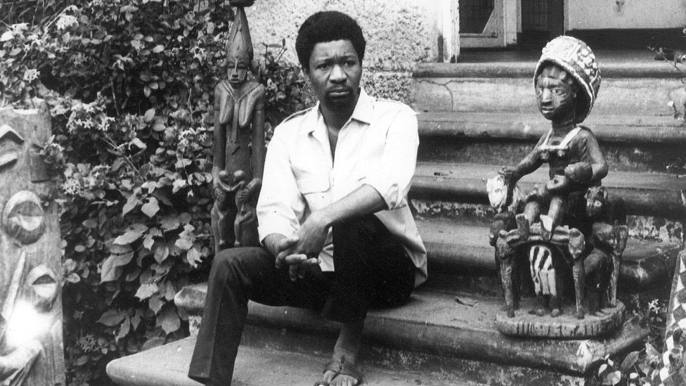 Wole Soyinka in 1969, a week after he was released from two years in solitary confinement – the Nigerian government had accused him of subversion (Credit: Getty Images)