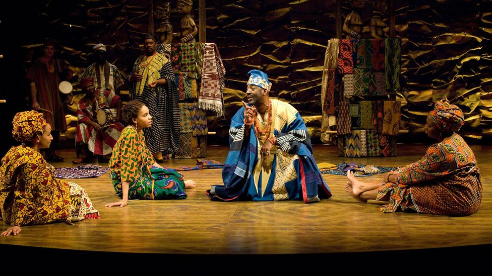 A production of Soyinka's play at the Oregon Shakespeare Festival in 2009 – it is meant to be performed in five scenes without intervals (Credit: Jenny Graham)