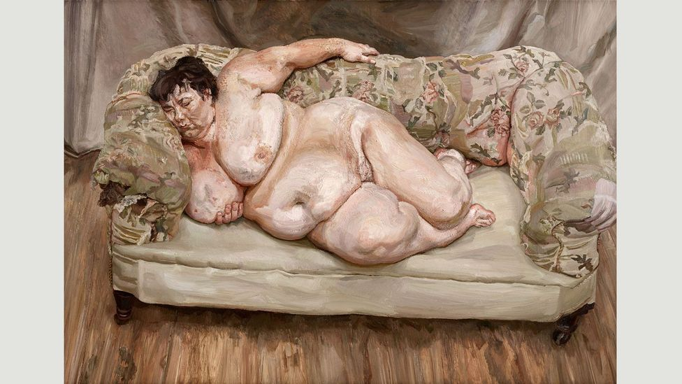 Benefits Supervisor Sleeping (1995) broke records when it was sold to Roman Abramovich in 2008 for £17 million ($33.6 million) (Credit: Lucian Freud Archive/Bridgeman Images)