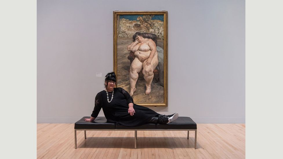 Freud's Sleeping by the Lion Carpet is currently on show as part of All Too Human at Tate Britain (Credit: Tate photography, Joe Humphrys)
