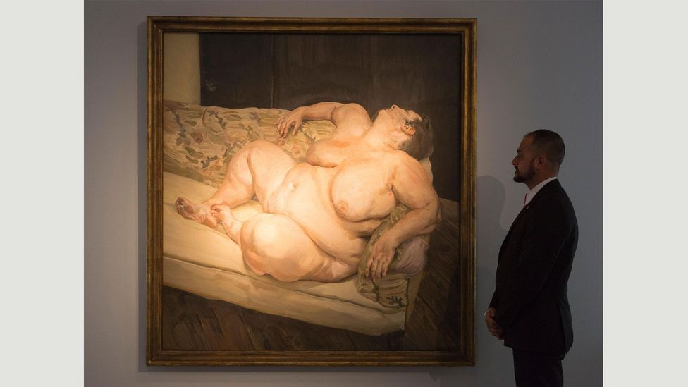 Benefits Supervisor Resting (1994) has been described as 'a triumph of the human spirit, showcasing Freud's love of the human body' (Credit: Alamy)