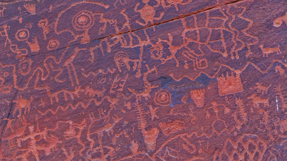 The 1,000-plus petroglyphs found at V Bar V historical site are believed to be an ancient calendar (Credit: Deborah Lee Soltesz/U.S. Forest Service Coconino National Forest)