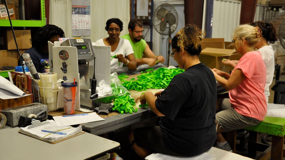 Employees at Alliance Rubber are encouraged to be as flexible as the products they produce (Credit: Alliance Rubber Company)