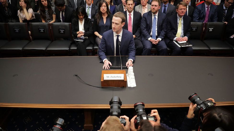 Mark Zuckerberg testifies in April in Washington, DC after 87 million Facebook users had personal data harvested by a firm linked to the Trump campaign (Credit: Getty Images)