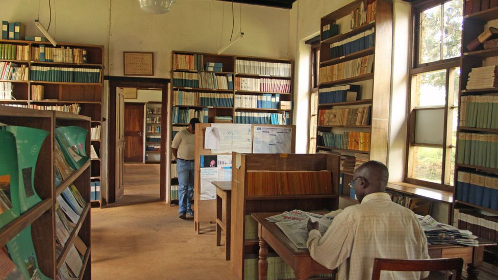 The Amani library was once a very different place (Credit: Rachel Nuwer)