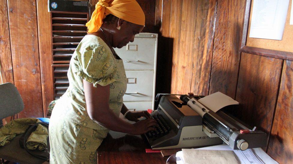 Matilda Bunami, the Amani secretary (Credit: Rachel Nuwer)