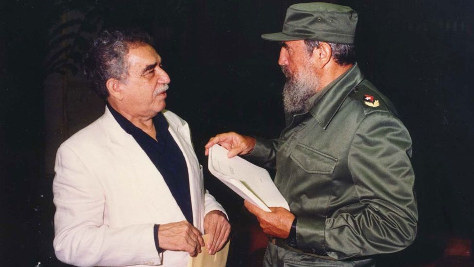 García Márquez became friends with Fidel Castro in 1977 – the Cuban leader proofread his manuscripts before they were published (Credit: Alamy)