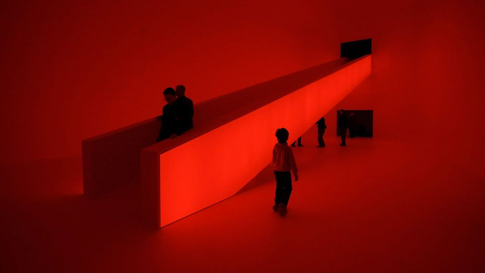 Many former hippies, such as James Turrell, who schooled others on burning their draftcards, ended up creating non-political art, such as his piece Bridget's Bardo (Credit: Getty)
