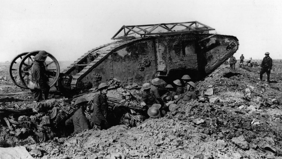 The British tanks had some success, but were slow, ungainly, and difficult for their crews to operate (Credit: Getty Images)