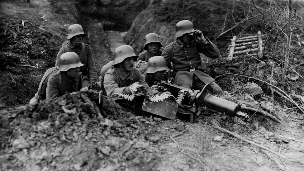 German machine gun positions made infantry assaults across no-man's land very difficult (Credit: Getty Images)