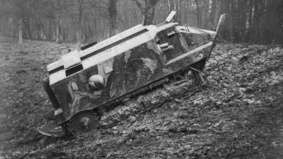 The first French tank design, the Schneider CA1, was not considered a success (Credit: Alamy)