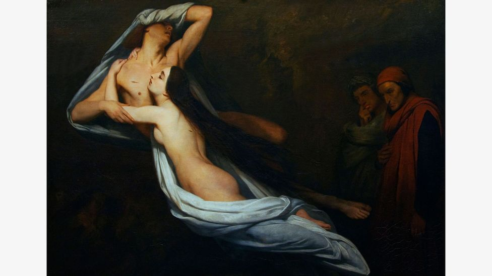 'There is no greater sorrow than happiness recalled in times of misery' – this line from Francesca, painted by Ary Scheffer, channels the grief Dante felt in exile (Credit: Alamy)