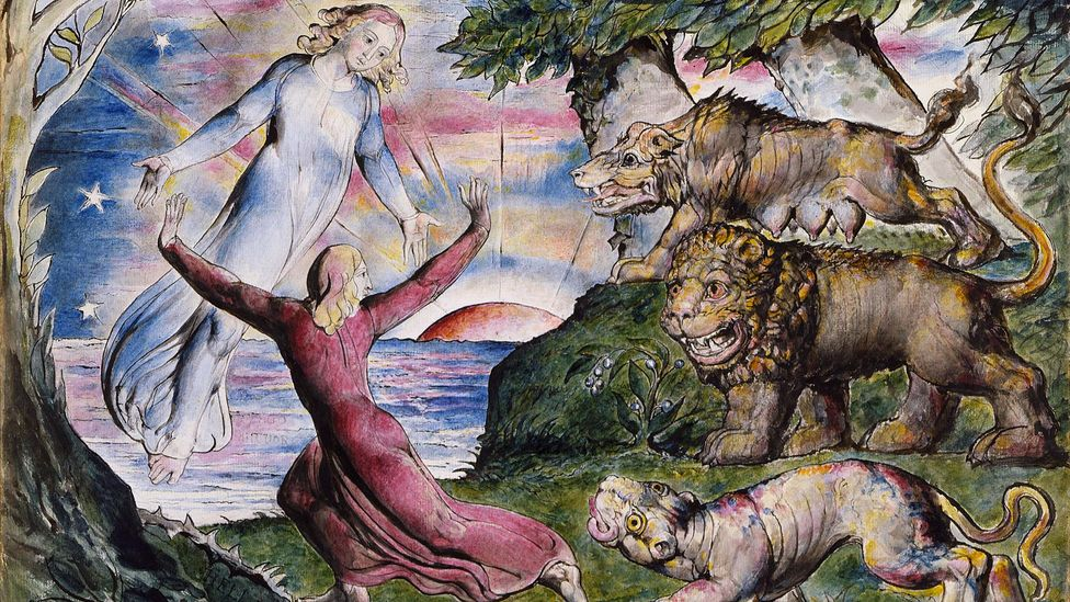 The Divine Comedy wasn't popular in the English-speaking world until poet William Blake, who made many illustrations for it such as this, advocated strongly for it (Credit: Alamy)