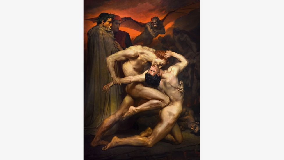William Bouguereau's Dante and Virgil from 1850 shows how vivid and image-rich Dante's storytelling is (Credit: Alamy)