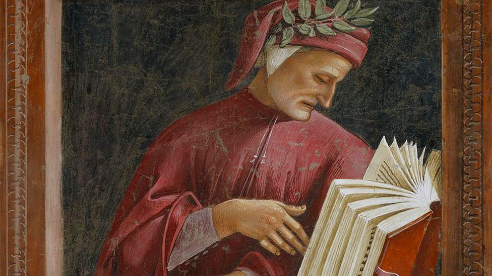 Dante, rendered in a Signorelli fresco at Orvieto Cathedral, was a government official in Florence before he was accused of stealing city funds and exiled (Credit: Alamy)