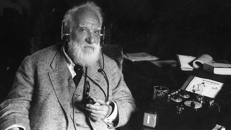 Scottish-born inventor Alexander Graham Bell was fascinated by the idea of transmitting speech (Credit: Getty Images)