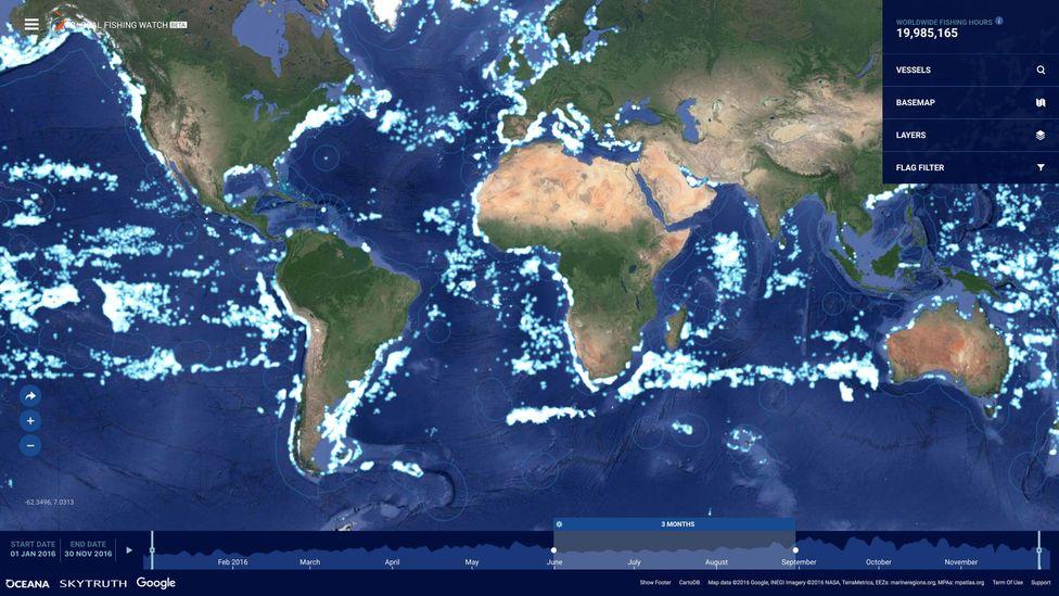 map of global fishing