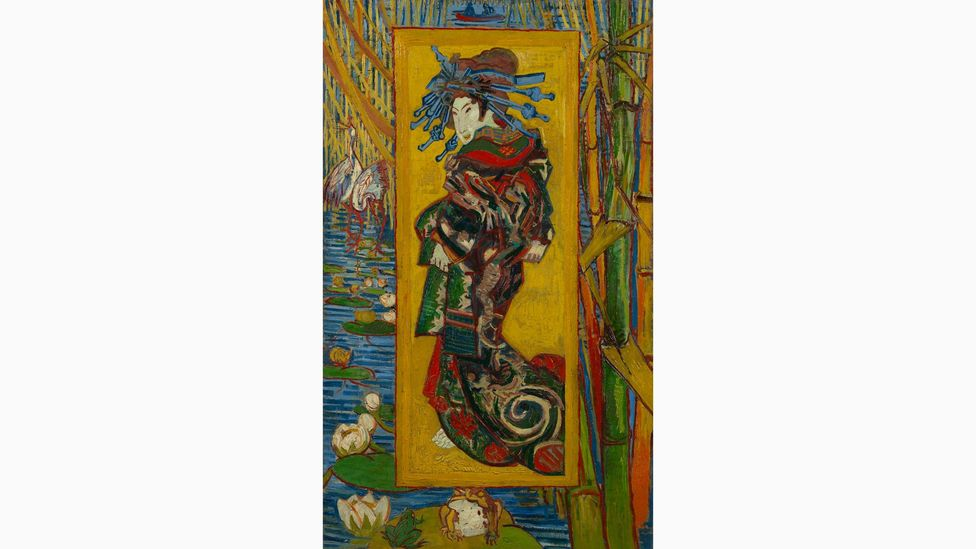 In The Courtesan (after Eisen), 1887, Van Gogh reproduced a print by Keisai Eisen that appeared on a magazine cover – he made it his own by using paint (Credit: Van Gogh Museum)