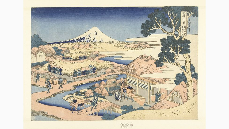 Van Gogh was interested in 'ukiyo-e' prints – this is Fuji Seen from the Katakura Tea Plantation in the Suruga Province by Katsushika Hokusai (Credit: Rijksmuseum, Amsterdam)