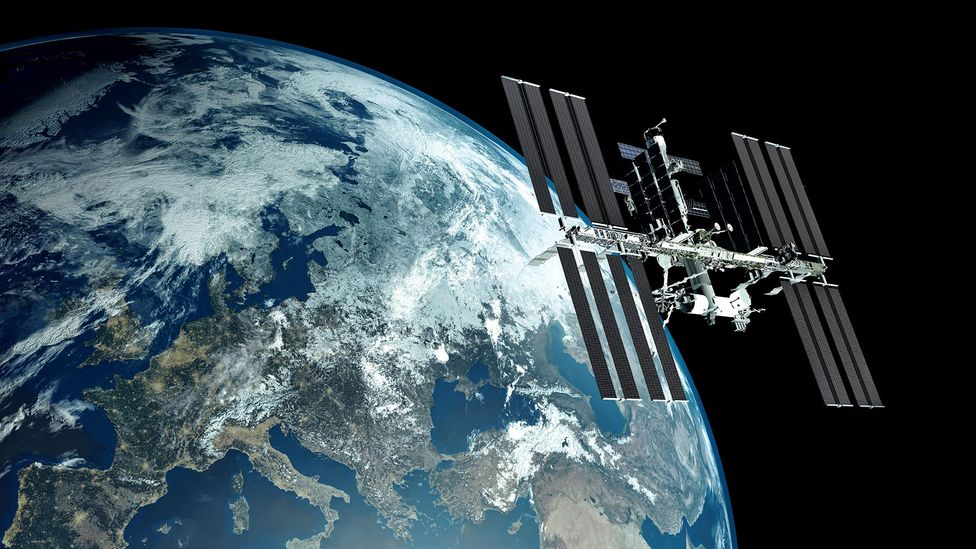 The ISS is less than 200 miles from Earth; the asteroid belt is many millions of miles away (Credit: Alamy)