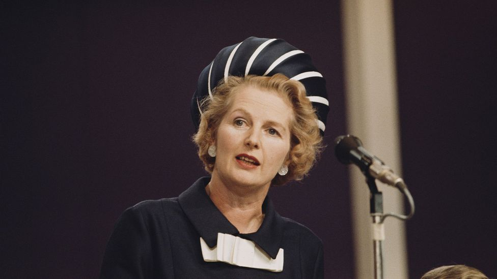 Former British Prime Minister Margaret Thatcher employed a voice coach to help lower her voice in an attempt to give herself more authority (Credit: Getty Images)