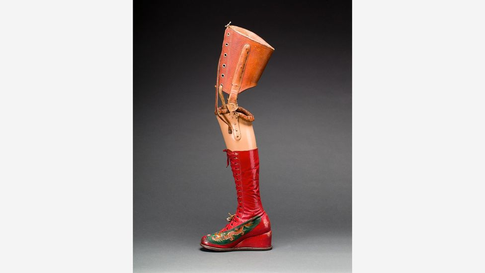 Many of the objects – such as her corsets and prosthetic leg – reveal more about Kahlo's near-fatal accident at the age of 18 (Credit: Victoria and Albert Museum)