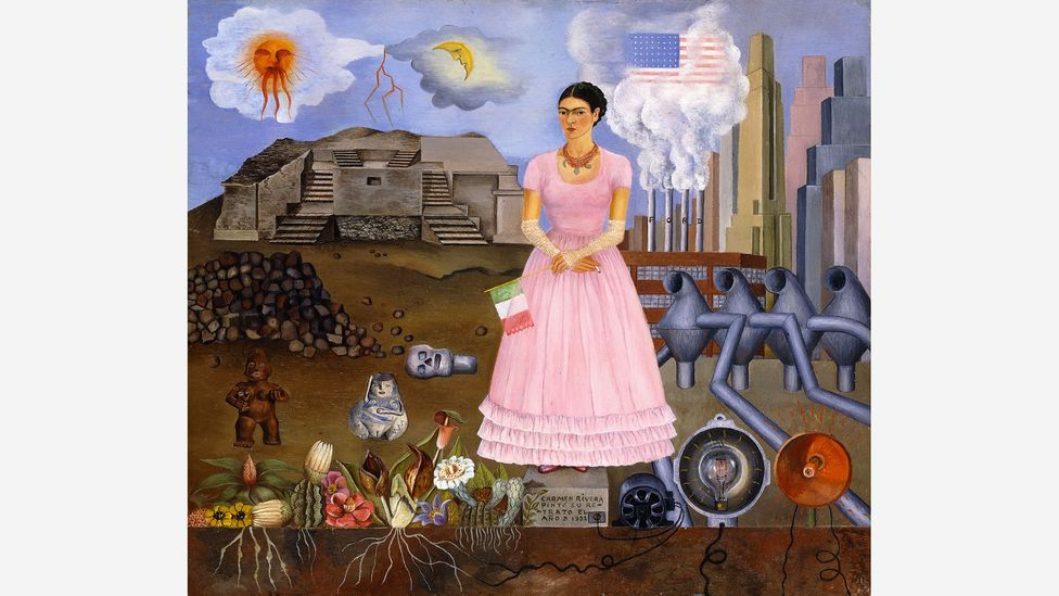 Objects are on display alongside paintings, including Self-Portrait on the Border Between Mexico and the United States of America (Credit: Modern Art International Foundation)