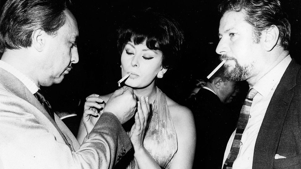 Romain Gary, pictured with Sophia Loren and Peter Ustinov, was a decorated war pilot, diplomat, Hollywood director – and award-winning novelist (Credit: Alamy)